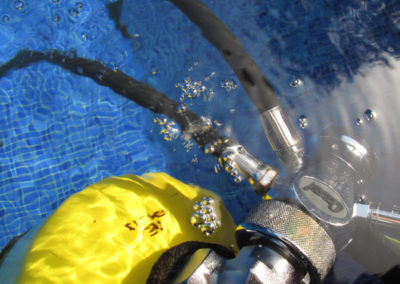 Comprobación estanqueidad y fugas de aire en inmersión
