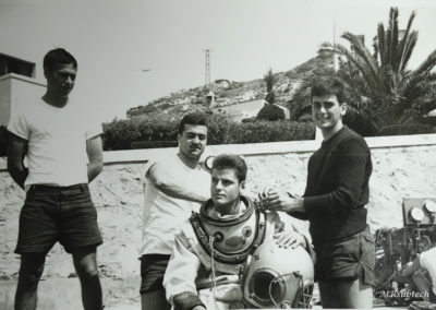CBA Algameca Cartagena 1978 - Mi formación de buzo clásico